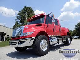 Red 2017 DuraStar Pickup   International Supertrucks