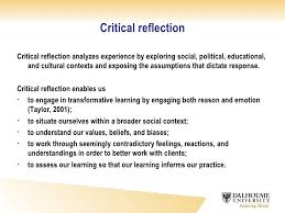 critical reflective writing  3 critical reflection