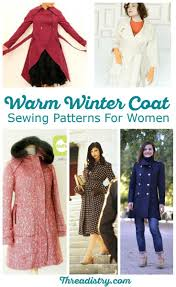 Coat Sewing Patterns Gorgeous Brave The Cold With Wonderful Women's Winter Coat Sewing Patterns