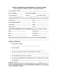 Tenant Emergency Contact Form - Editable, Fillable & Printable ...