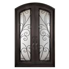 iron doors unlimited 62 in x 97 5 in flusso classic full lite painted oil