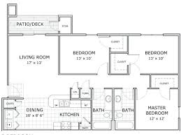 Three Bedroom Apartment Floor Plans Floor Plan Image Of A Furnished 3  Bedroom And 2 Bathroom Apartment Home At Hawthorn Suites 4 Bedroom Luxury  Apartment ...