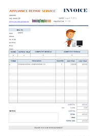 garage invoice template garage invoicee simple services rendered rabitah throughout free uk
