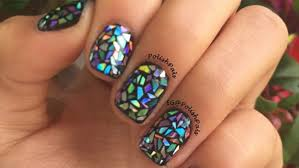 Mylar Nail Designs Shattered Glass Nail Art Is The Hottest Trend On The Internet