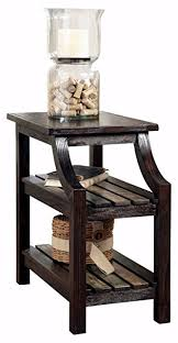 chair side table. ashley furniture signature design - mestler chair side end table rectangular rustic brown