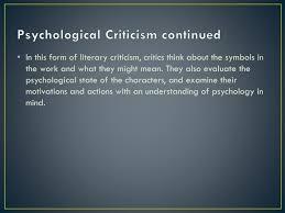 Psychological Criticism Ppt Literary Criticisms Powerpoint Presentation Id 3800610