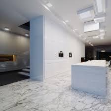 modern matching white granite floor tile to granite countertop in