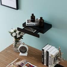 wall mounted storage shelf with drawer