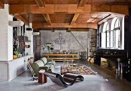 industrial themed furniture. Loft Room With Industrial Themed Decor : Decorating Ideas For A Space Furniture