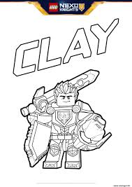 Coloriage Lego Nexo Knights Bouclier Clay Jecolorie Com