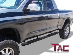 TAC 4.25 Side Steps Fit 2007-2018 Toyota Tundra Double Cab Pickup ...