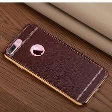 white trim leather iphone 8 plus case