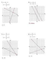 graphing systems of equations graphing systems of equations worksheet answers glencoe