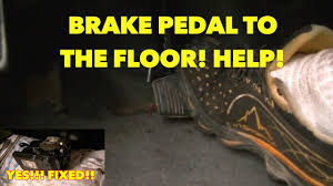 sinking spongy brake pedal with abs system nothing works watch fixed