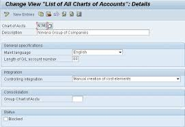 Gl Chart Of Accounts Financials And Controlling Chart Of Accounts And Account Group