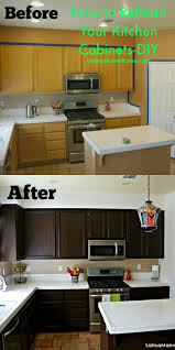 How To Refinish Your Kitchen Cabinets Shoes Diy Kitchen Diy