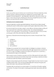 Leadership Essay Example Magnificent Essay Leader Tomburmoorddinerco