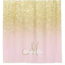 pink and gold shower curtain modern gold soft pink block personalized shower curtain pink gold shower