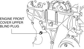 mazda 3 service manual variable valve timing actuator removal 14 remove the engine front cover upper blind plug