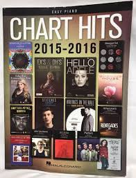 Hal Leonard Chart Hits Of 2015 2016 For Easy Piano Coldplay Adele