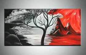 red and black wall art handpainted black white red beautiful modern abstract decorative oil painting canvas wall art tree picture for red and black wall art  on hand painted canvas wall art uk with red and black wall art handpainted black white red beautiful modern