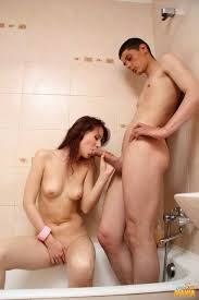 Young couple having sex in bath