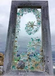 beach glass art sea glass art