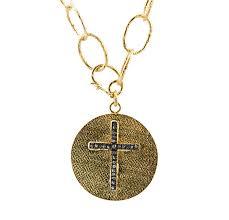 diamond cross disc pendant necklace 590 00