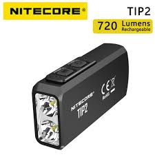 <b>Nitecore TIP2 720LM</b> USB rechargeable key light 2 CREE XP-G3 S3 ...