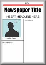 Newspaper Report Template Microsoft Word This Microsoft Word Newspaper Template Could Be Used For