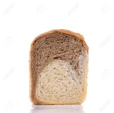 Brown White Bread Slice Isolated On A White Background Stock Photo