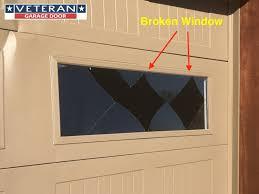 repair a broken garage door window