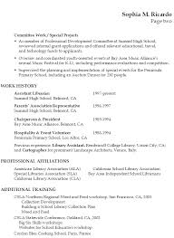 Academic Resume Examples 13 Sample Librarian P1 P2