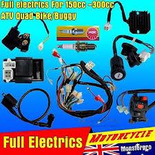 complete electrics atv quad 200cc 250cc cdi coil wiring harness full wiring harness loom 150 200 250 300cc atv quad buggy electric start