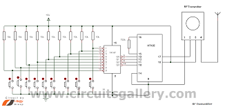 multi channel remote control system circuits gallery circuit diagram of rf remote control