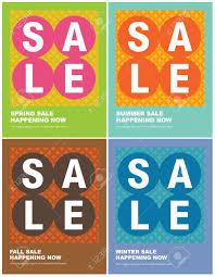 Sales Flyer Templates 8 5x11 Seasonal Sales Flyer Poster Templates Royalty Free Cliparts