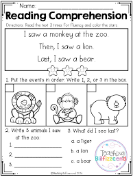 Cute K5 Learning Reading Comprehension Images - Math Worksheets ...