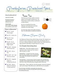 october newsletter ideas preschool newsletter october 2015 wabash presbyterian church