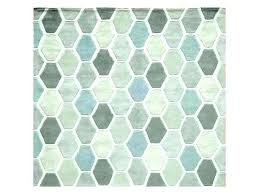gray geometric rug blue