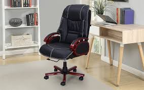 royaloak retro boss chair with adjule height and double layer cushion in leatherette