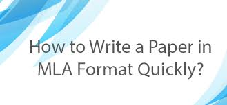 mla format paper how to meet all necessary requirements  how to mla format of a paper