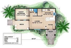guest house floor plans. Quaint Cottage Guest House - 66262WE Floor Plan Main Level Plans