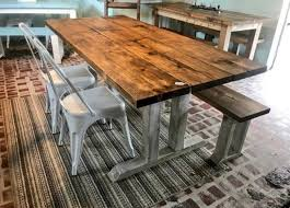 diy farmhouse table leg set antique