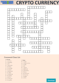 His puzzle, though, is already near completion. Cryptocurrency Crossword Puzzle Templates At Allbusinesstemplates Com
