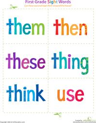 1st Grade Flash Cards First Grade Sight Words Them To Use First Grade First Grade