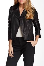 image of vince vintage leather moto jacket