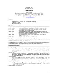 Curriculum Vitae Sample Graduate School Application Valid Grad
