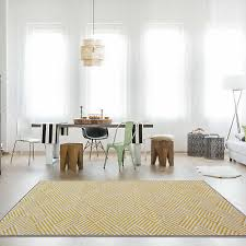 yellow mustard gray bordered geometric rug chevron nordic living room area rugs