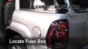 interior fuse box location 2002 2009 chevrolet trailblazer 2005 2002 Trailblazer Fuse Box Diagram locate interior fuse box and remove cover