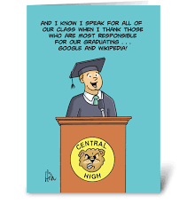 Humorous High School Graduation Card